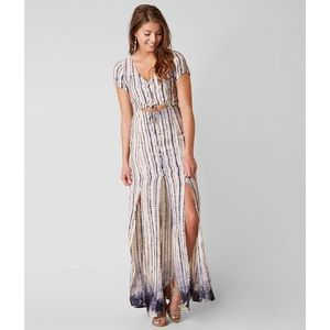 NWT Honey Punch Printed Maxi Dress